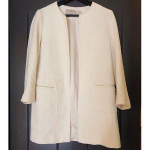 Zara creamy white coat